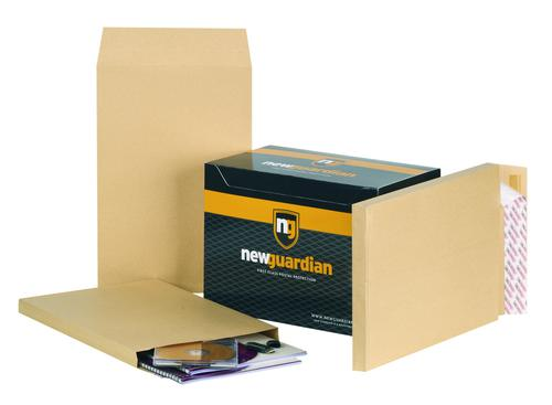 New Guardian Gusset Envelope 381 x 254mm Peel and Seal Plain Power-Tac 25mm Gusset 130gsm Manilla (Pack 100)