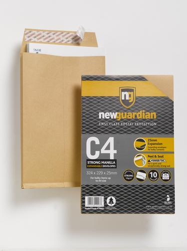 New Guardian C4 Gusset Envelope 130gsm PK10