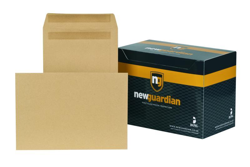 C4 New Guardian Envelopes Heavyweight Self Seal Manilla C4 PK250