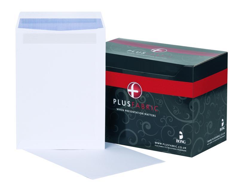 C4 Plus Fabric Pocket Envelope C4 Self Seal Plain 120gsm White (Pack 250)
