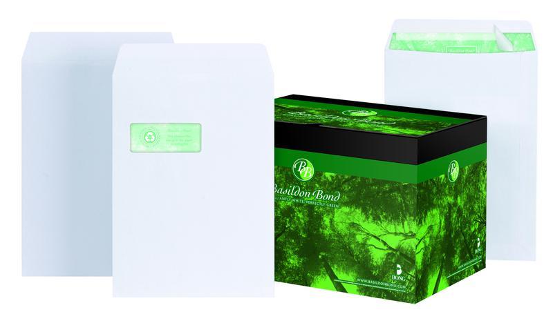 C4 Basildon Bond Pocket Envelope C4 Peel and Seal Plain 120gsm White (Pack 250)