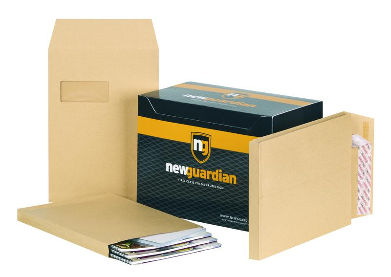 Gusset Envelopes New Guardian Hvywght Peel & Seal Window Gusset 25mm Manilla C4 PK100
