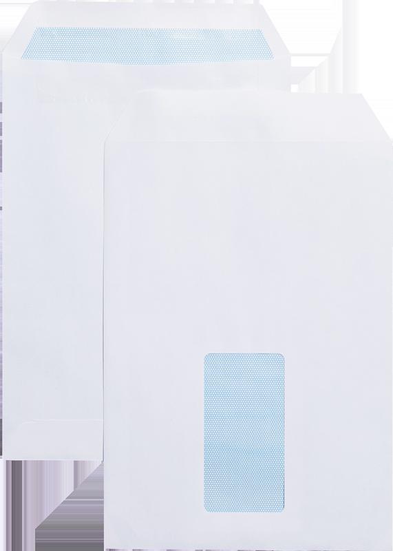 C5 Blue Label Pocket Envelope C5 Self Seal Window 90gsm White (Pack 500)