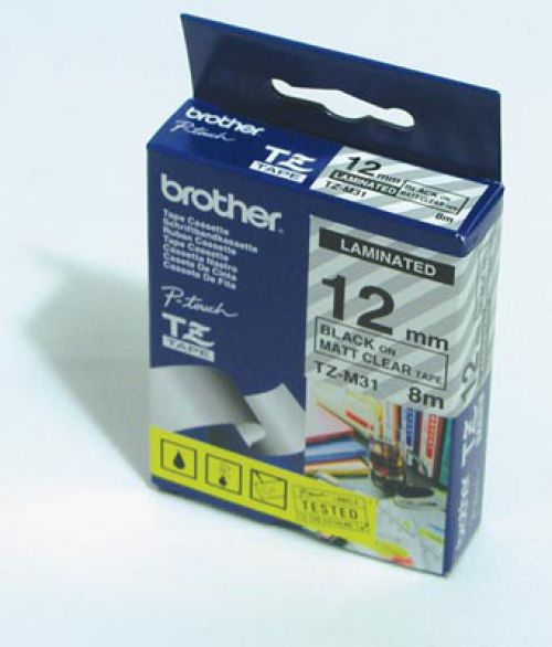Brother TZEFX231 Black On White Flexible Label Tape 12mmx8m