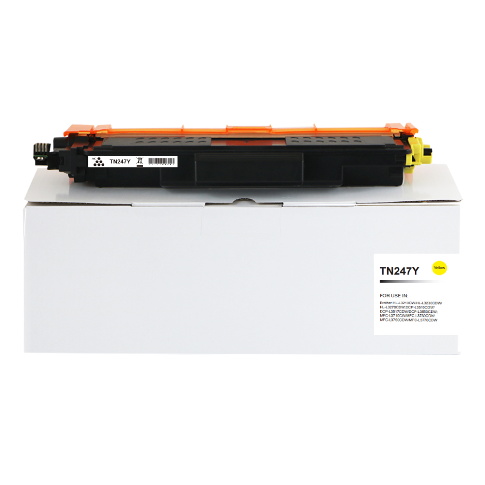 Comp Brother TN247Y Hi Yld Yellow Toner CHIPPED
