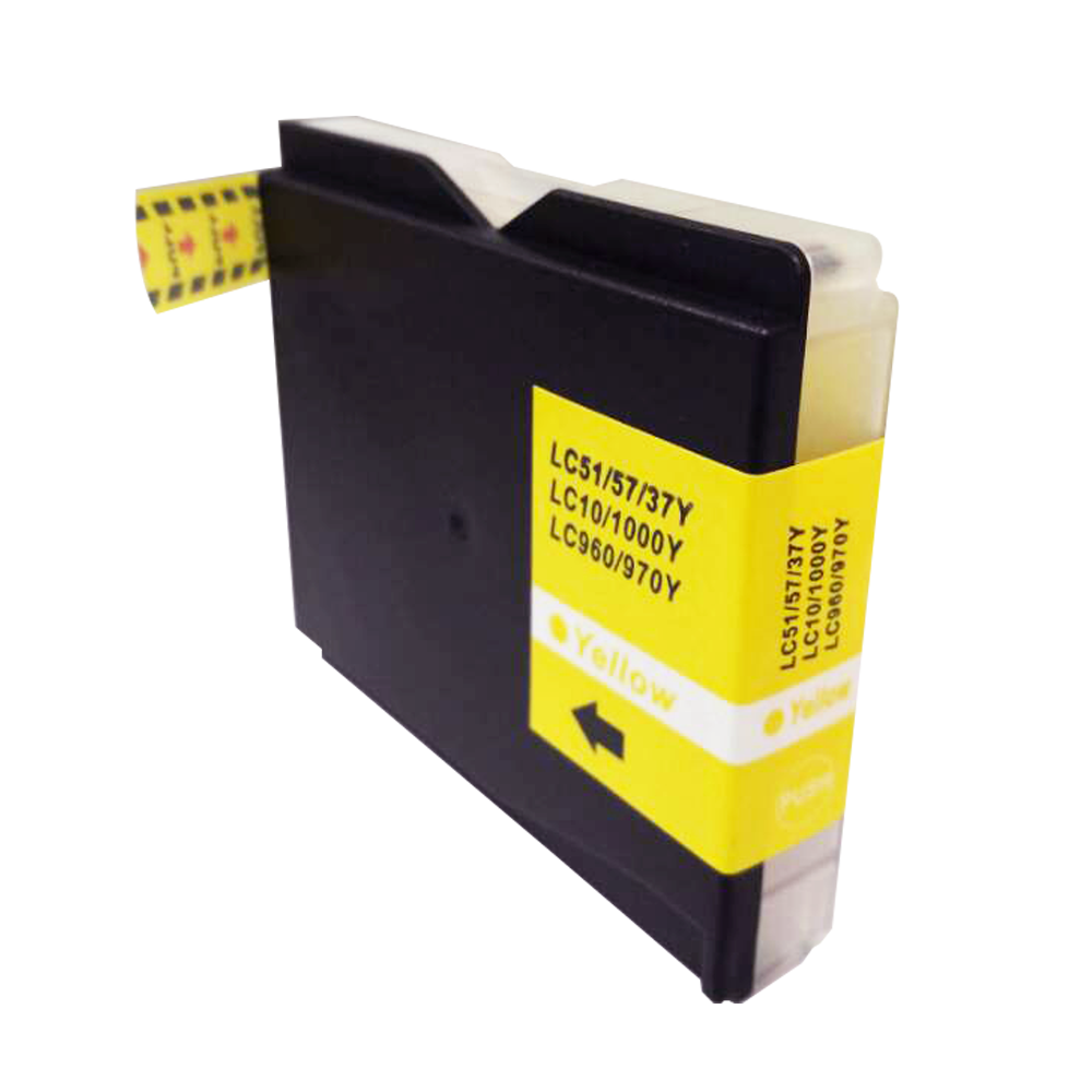 TonerCare-CArtridge Comp Brother MFC240 Yellow Ink Cartridge LC1000Y also for LC970Y