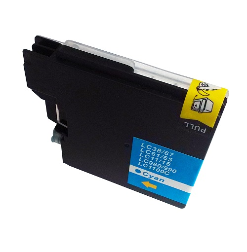 PWD - Cartridge Comp Brother MFC290C Cyan Ink LC1100C also for LC980C  [LC980/1100C]