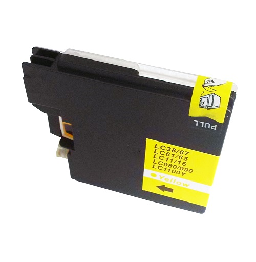 Alpa-Cartridge Comp Brother MFC290C Yellow Ink LC1100Y also for LC980Y  [LC980/1100Y]
