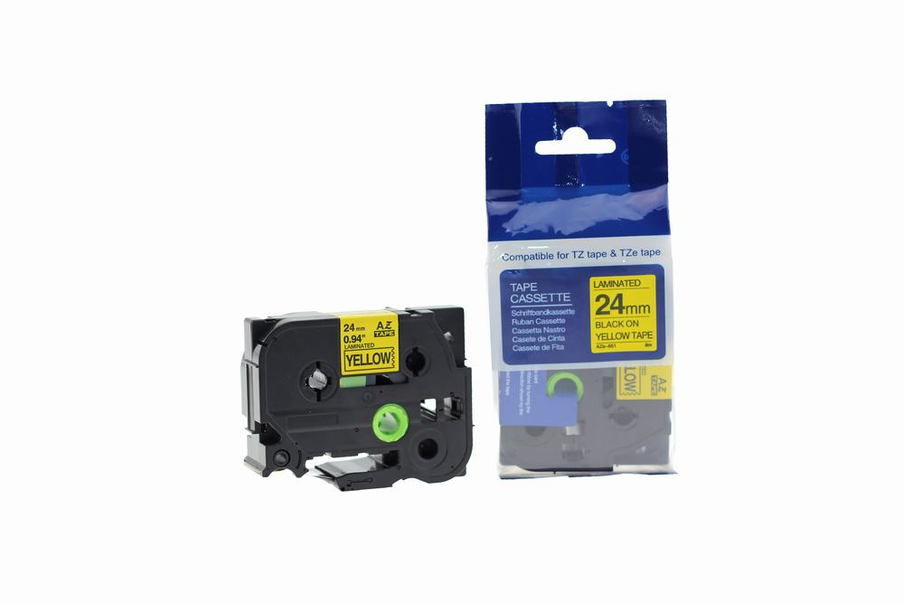 PWD - Cartridge Comp Brother P-Touch TZe-651 (YT-651) Label Cassette Black on Yellow also for TZ-651