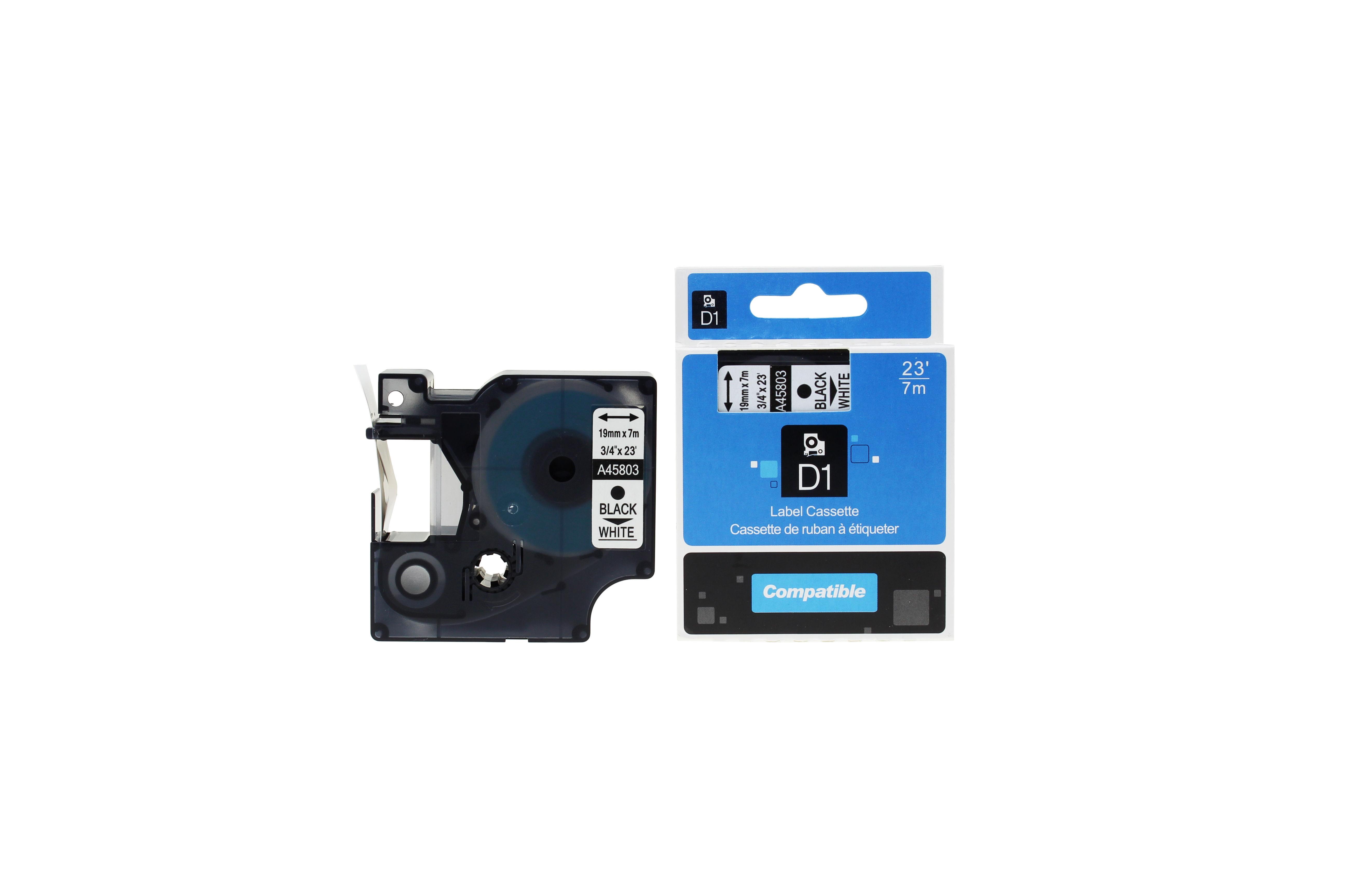TonerCare-CArtridge Comp Dymo 45803 S0720830 Label Cassette Black on White