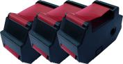 TonerCare-CArtridge Comp Francotyp Postalia T1000 Blue Ink 3x Cattridges 51.0019.5303.00