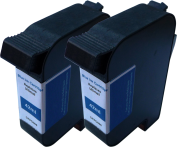 TonerCare-CArtridge Comp Francotyp Postalia Centormail Ink Twin Pack Blue 58.0038.3188.00