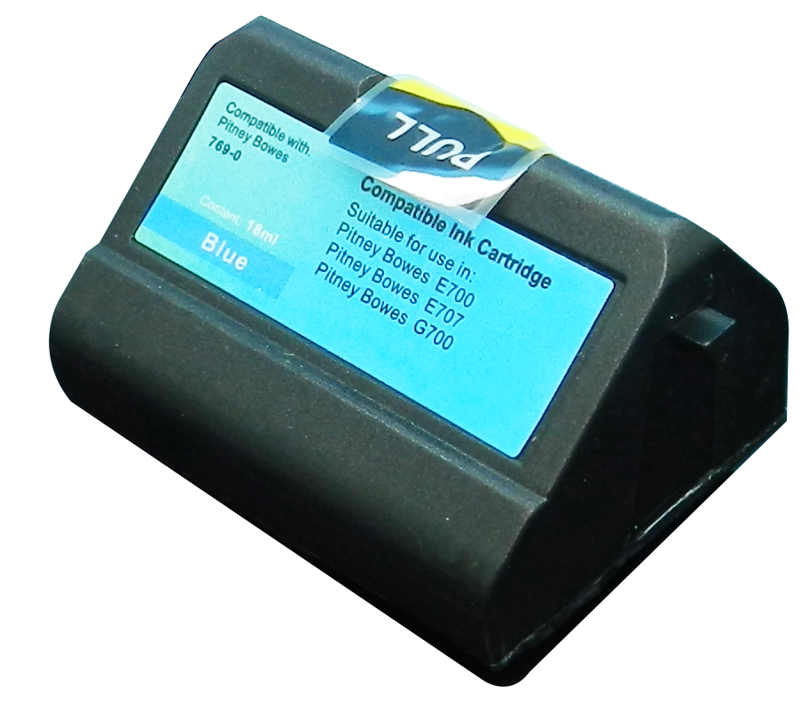 TonerCare-CArtridge Comp Pitney Bowes E700 769-0 Blue Ink Cartridge 10010-800 also for E74092-001 E74178-00