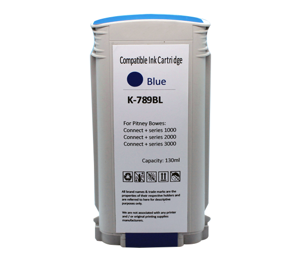 TonerCare-CArtridge Comp Pitney Bowes Connect+ 1-3000 Series Blue Ink Cartridge 789-BL