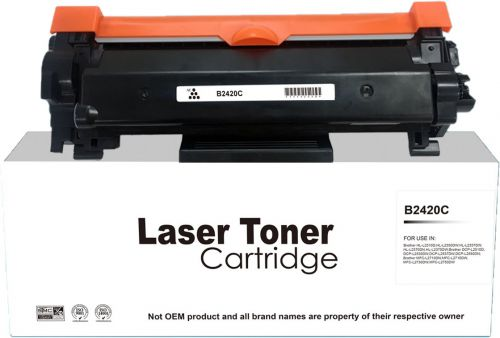 Compatible Brother TN2420 Hi Yield Black Laser Toner Unchipped