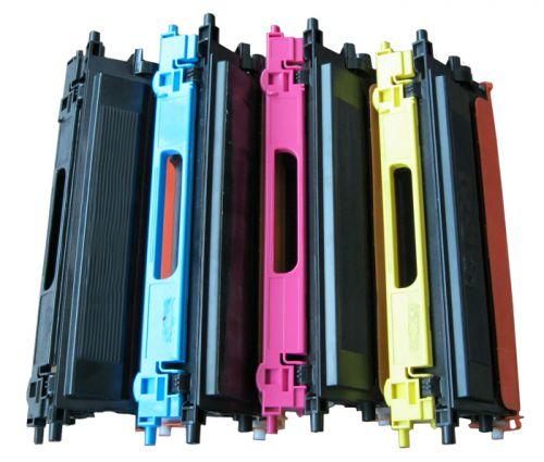 Alpa-Cartridge Reman Brother TN135Y Hi Yld Yellow Toner also for TN130