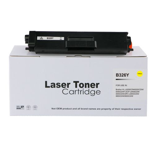 Compatible Brother TN326Y Yellow Hi Cap Toner