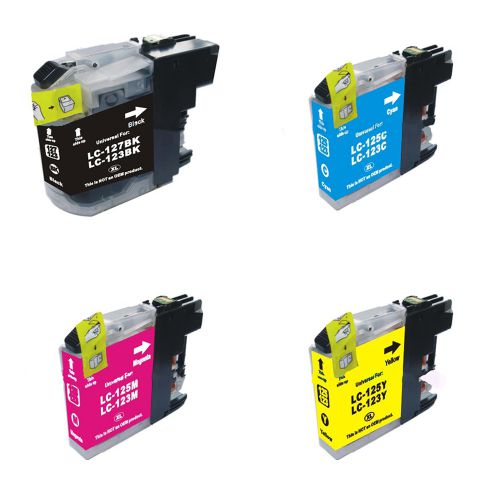 Compatible Brother LC123 Multipack LC123BK/C/M/Y Inkjets