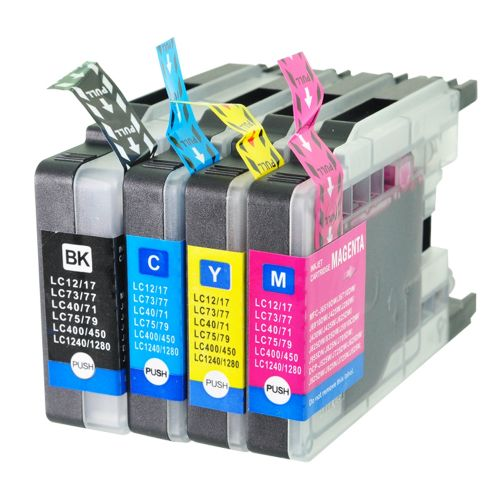 Comp Brother LC1280 Multipack 4 Ink Cartridges  [LC1220BK/C/M/Y] also LC1240