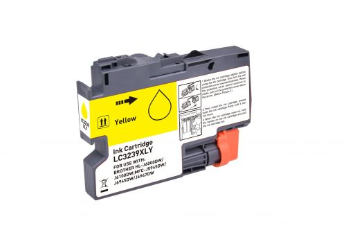 Compatible Brother LC3239XLY Yellow Hi Cap Inkjet