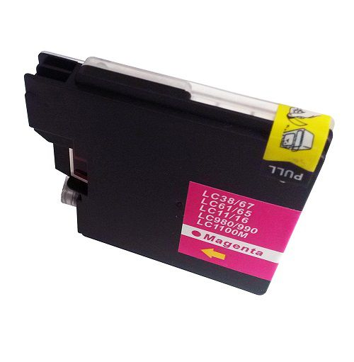 Alpa-Cartridge Comp Brother MFC290C Magenta Ink LC1100M also for LC980M [LC980/1100M]
