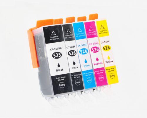 Alpa-Cartridge Comp Canon PGI525/CLI526 Multipack 5 Ink Ctgs  [PGI525BK/CLI526BK/C/M/Y]