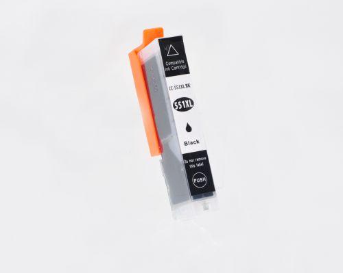 Alpa-Cartridge Comp Canon IP7250 CLI-551XLBK Black Ink Ctg  [CC-551BK XL]