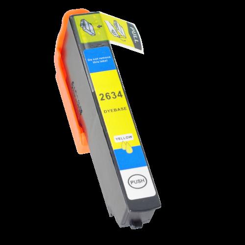 Alpa-Cartridge Comp Epson T2634 (26XL) Yellow Hi Cap Ink T26344010 also for T26144010 [E2634]