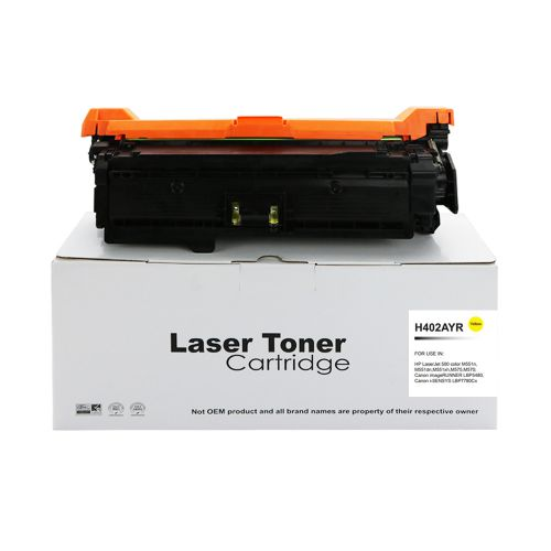 Alpa-Cartridge Reman HP Laserjet 500 Yellow CE402A Toner 507A also for Canon 732