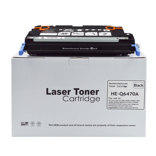 Remanufactured HP Q6470A Black also for Canon 711 EP711BK Toner