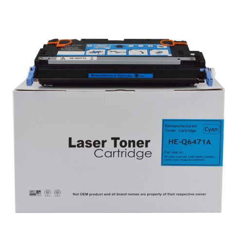 Alpa-Cartridge Reman HP Laserjet 3600 Cyan Q6471A Toner also for Canon 711 EP711C