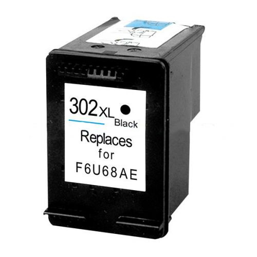 ALPA-CArtridge Reman HP No.302XL Hi Yield Black Ink Cartridge F6U68AE