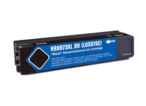 Reman HP PageWide Pro 452 Hi Cap Black Ink Cartridge L0S07AE HP 973X