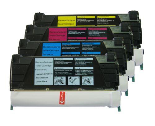 Alpa-Cartridge Reman Lexmark C734 Cyan Toner C734A2CG