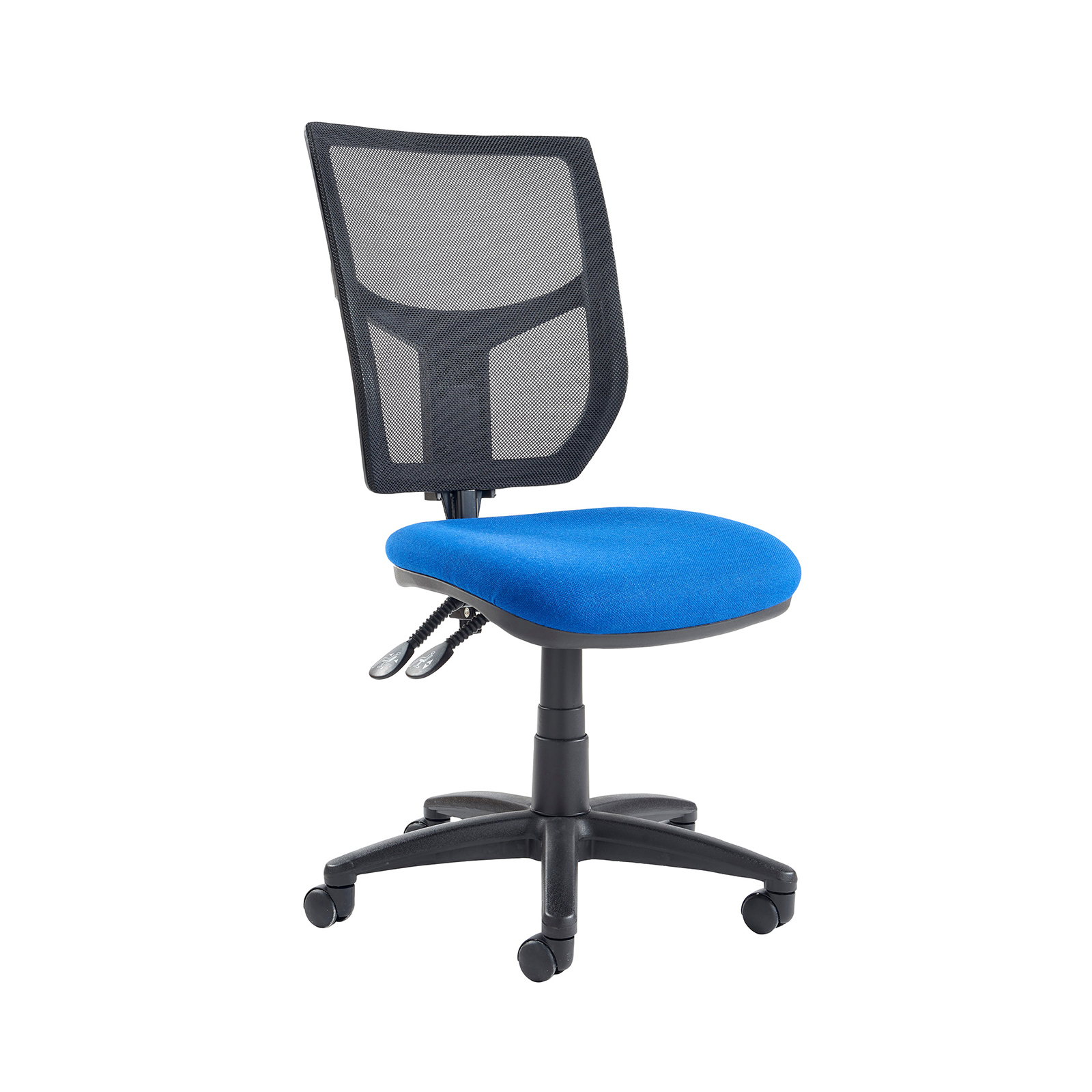 Altino 2 Lever High Mesh Back Operators Chair With No Arms Blue