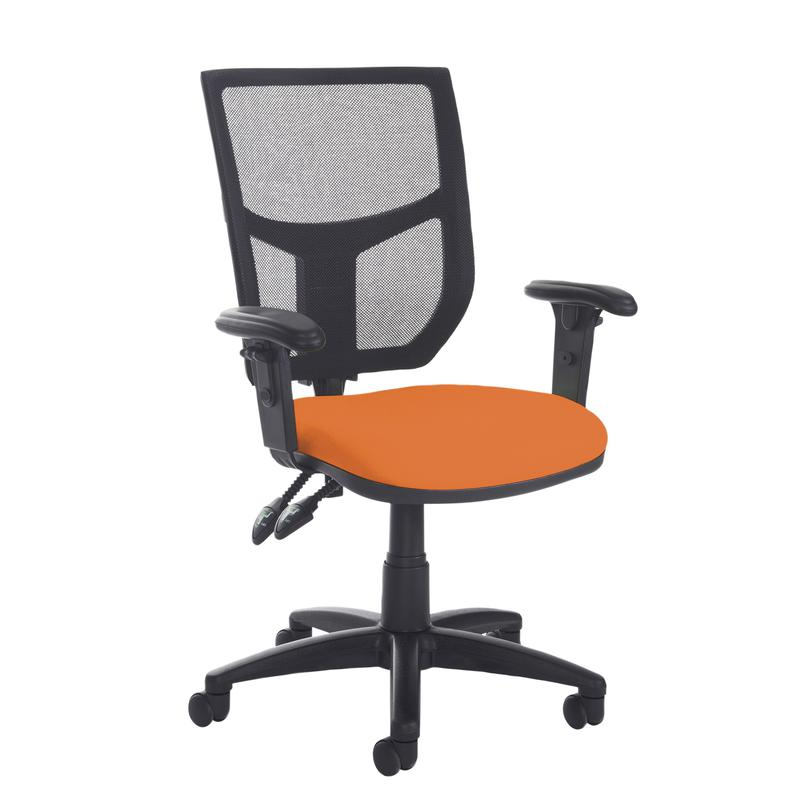 Altino 2 lever high mesh back operators chair with adjustable arms - made to order