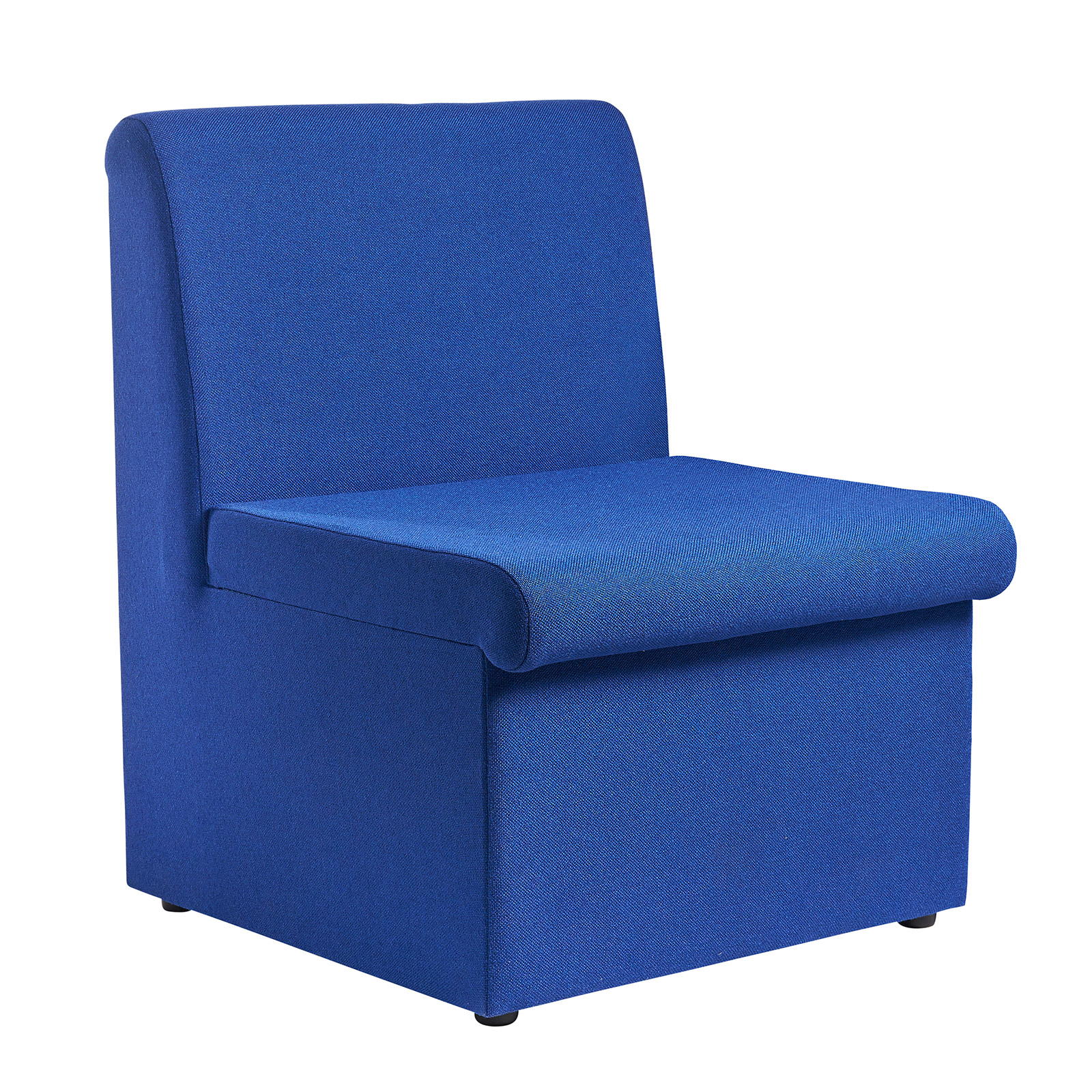 Image for Alto modular reception seating with no arms - blue