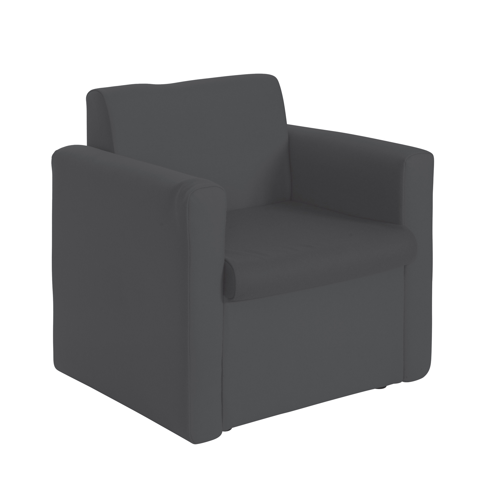 Alto modular reception seating armchair - charcoal