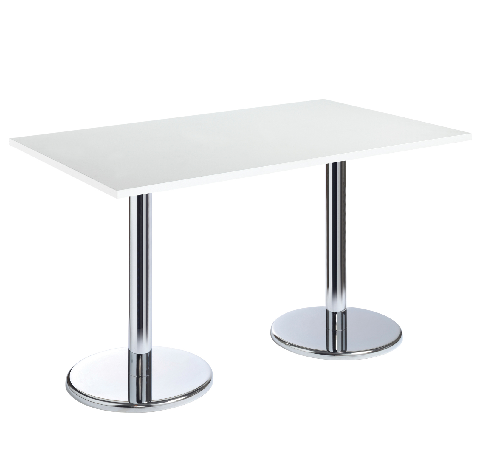 Pisa rectangular table with round chrome base 1600mm x  : b16dhcwh from www.ersos.co.uk size 1600 x 1526 jpeg 174kB