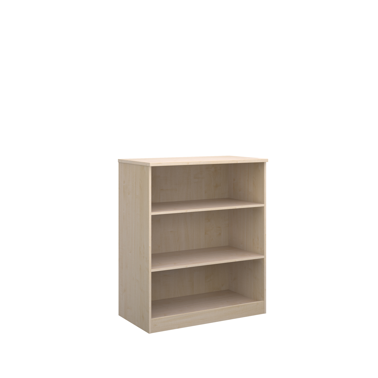 Deluxe bookcase 1200mm high with 2 shelves - maple