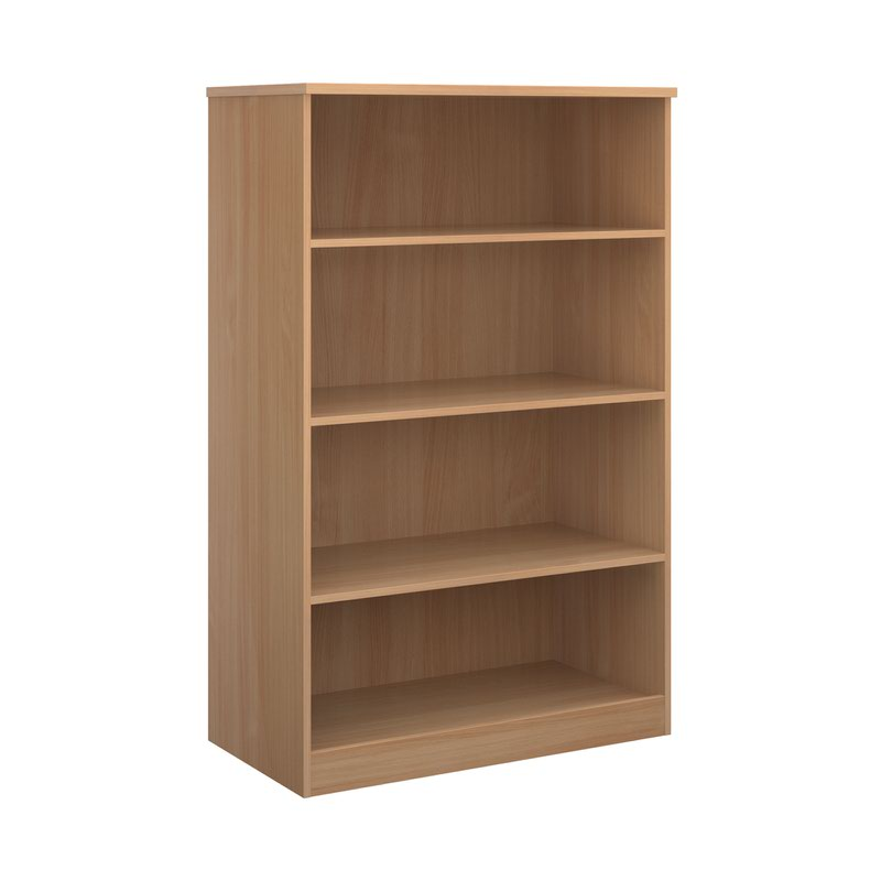Deluxe bookcase 1600mm high with 3 shelves - beech