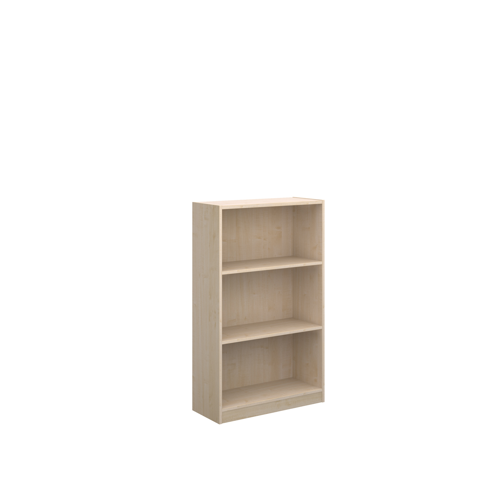 Economy bookcase 1236mm high with 2 shelves - maple