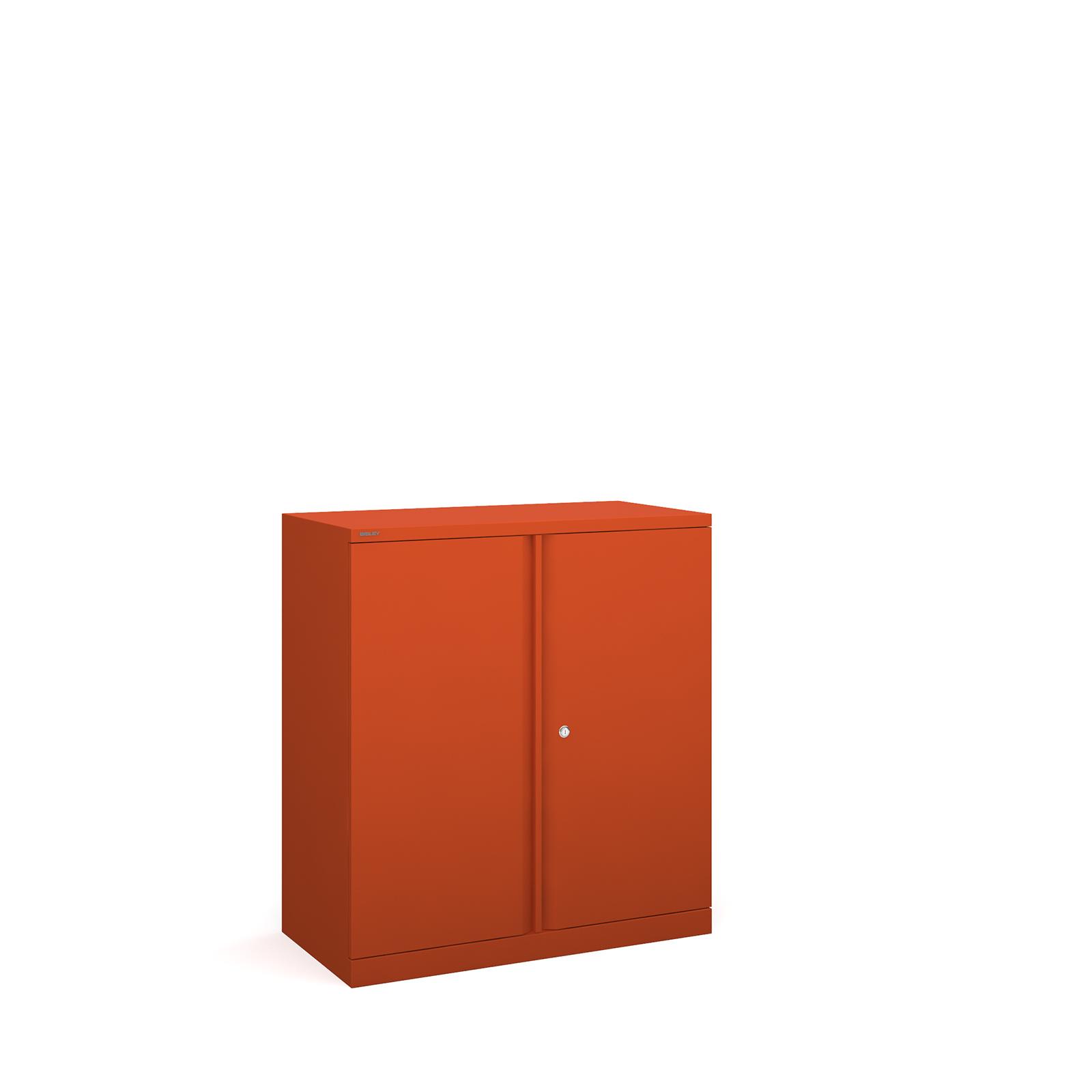 Bisley systems storage low cupboard 1000mm high - orange
