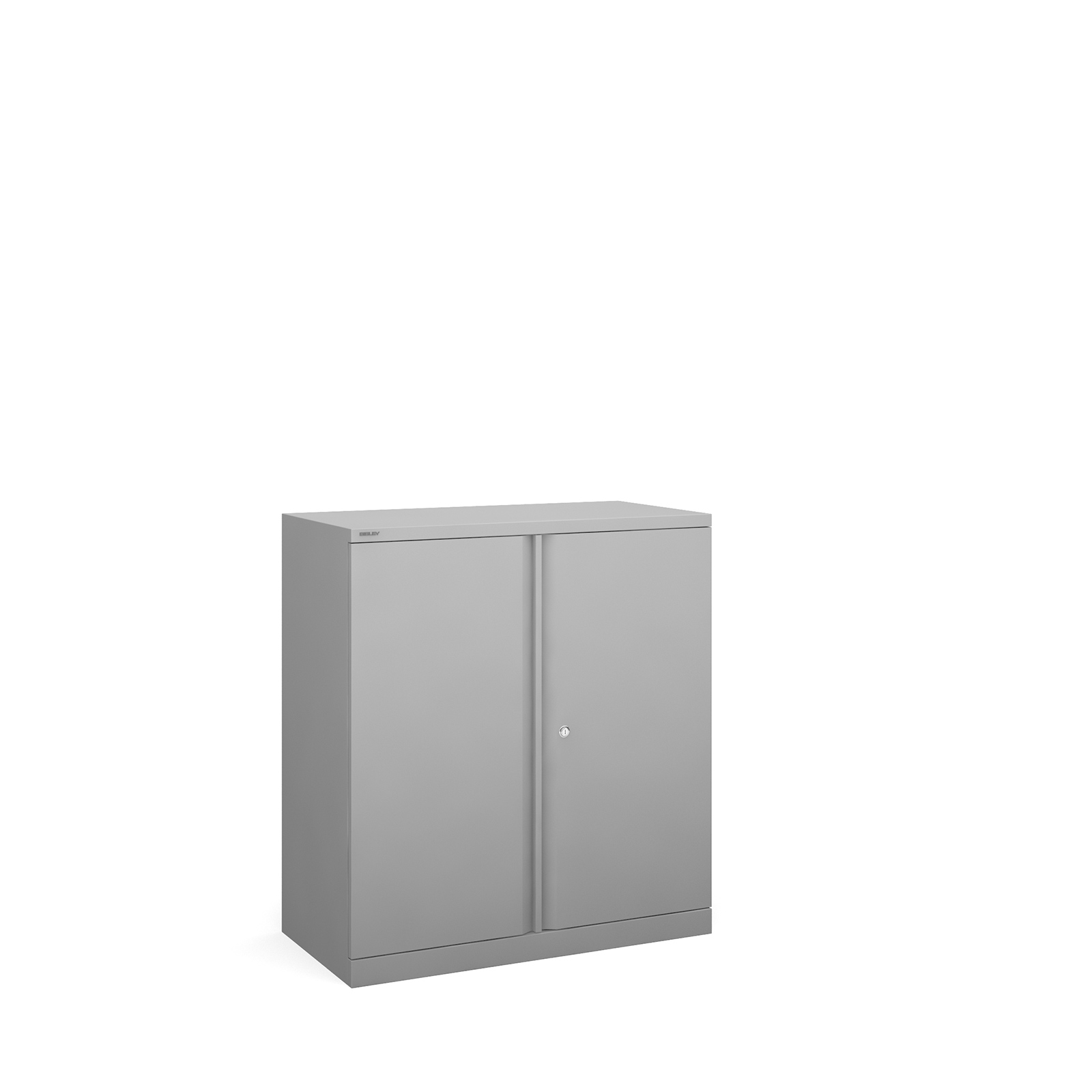 Bisley systems storage low cupboard 1000mm high - silver