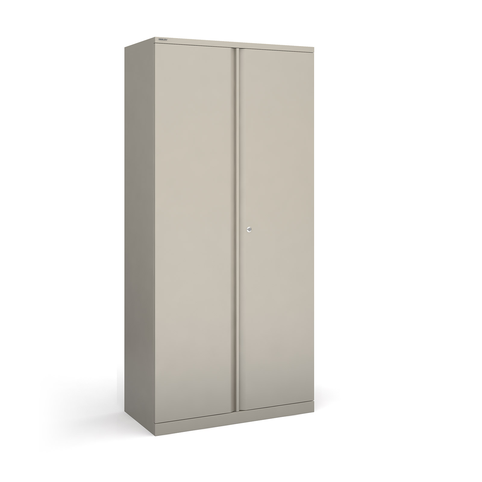 Bisley systems storage high cupboard 1970mm high - goose grey