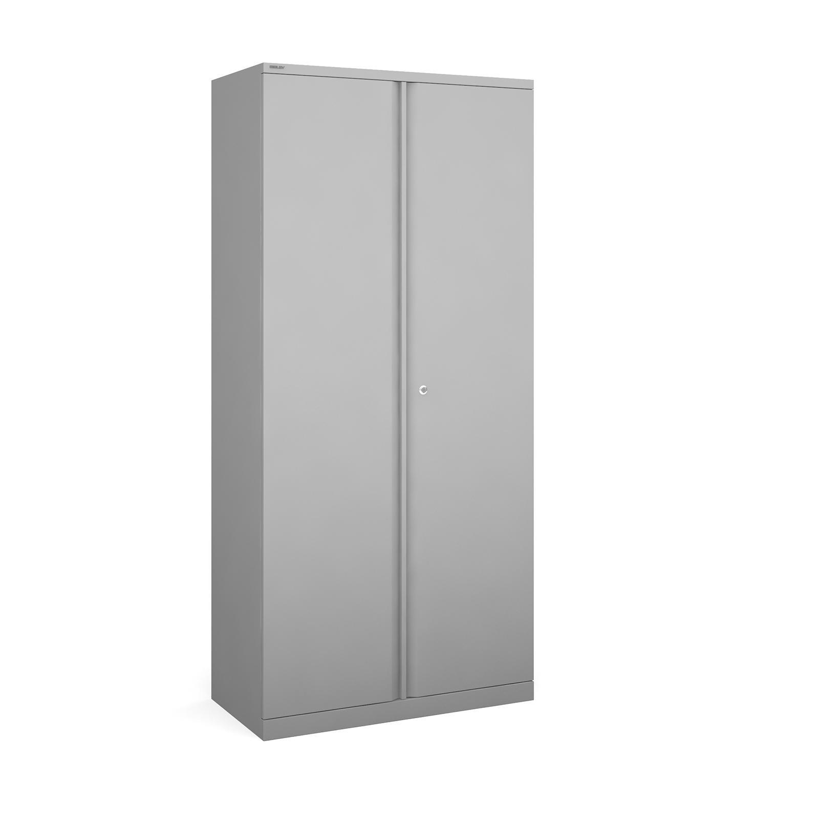 Bisley systems storage high cupboard 1970mm high - silver