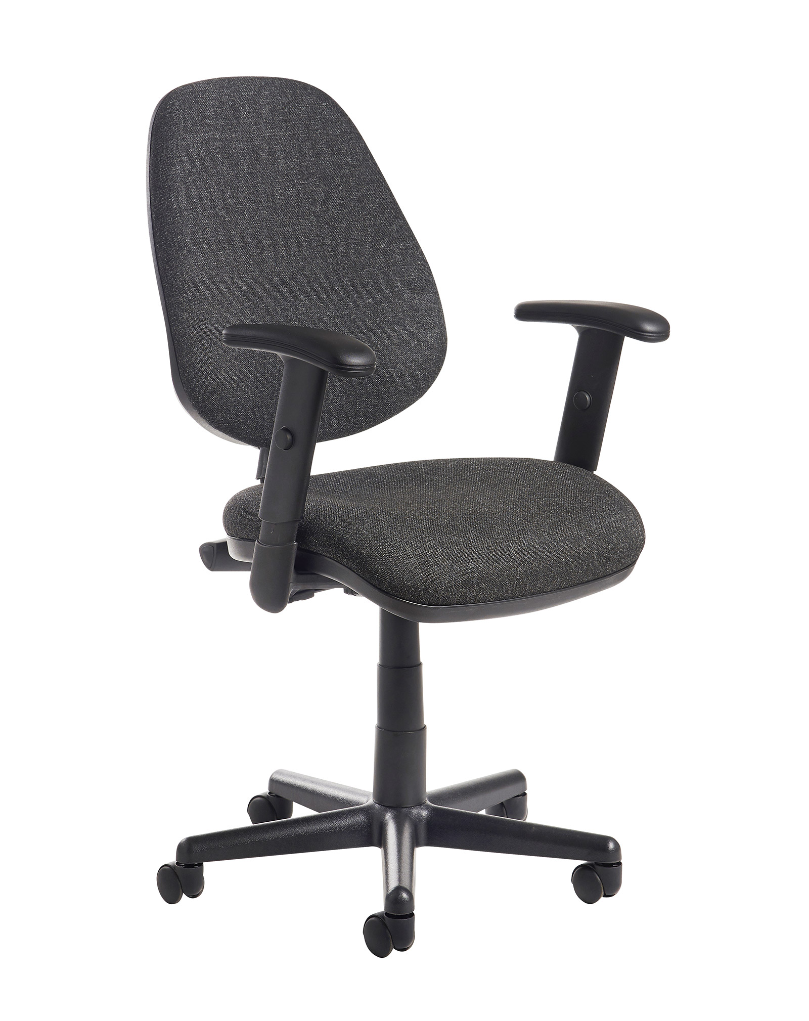 Image for Bilbao Fabric Operators Chair With Adjustable Arms Charcoal