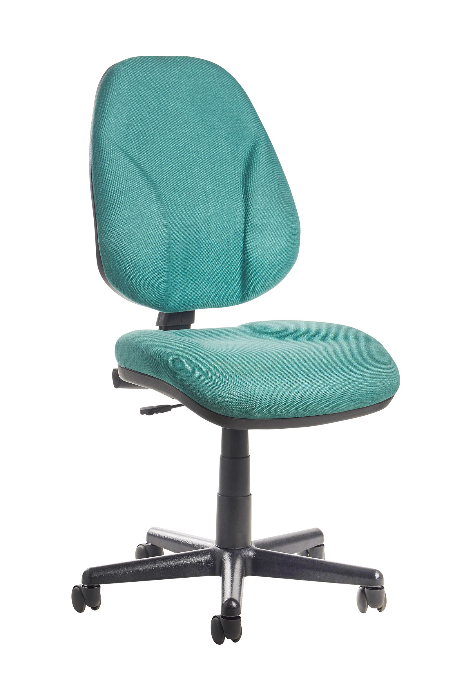 Bilbao fabric operators chair with lumbar support and no arms - green