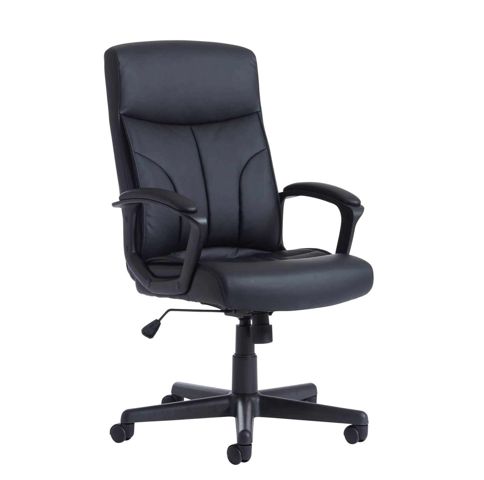 Brompton high back managers chair - black faux leather