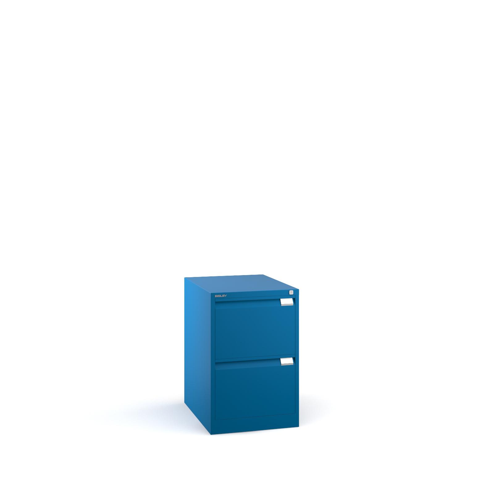 Bisley 2 drawer BS filing cabinet 711mm - blue